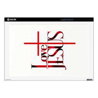 Love Jesus and The Cross. Decals For Laptops