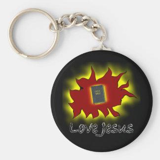 Love Jesus Basic Round Button Keychain