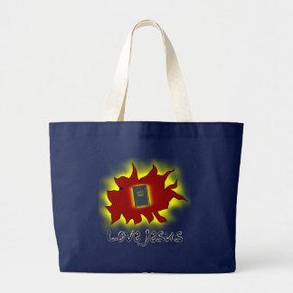 Love Jesus Large Tote Bag
