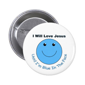 Love Jesus smiley face 2 Inch Round Button