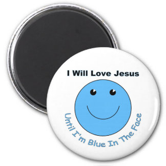 Love Jesus smiley face 2 Inch Round Magnet
