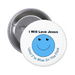 Love Jesus smiley face Buttons