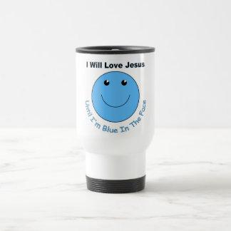Love Jesus smiley face Mugs