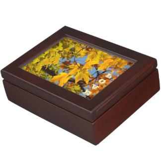 LOVE Jewelry Trinket Keepsakes Boxes Autumn Leaves