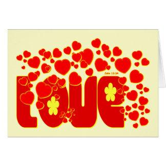 Love - John 13.34 Card