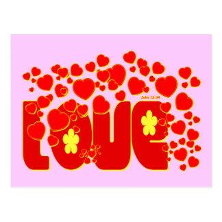 Love - John 13.34 Postcard