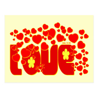 Love - John 13.34 Postcards