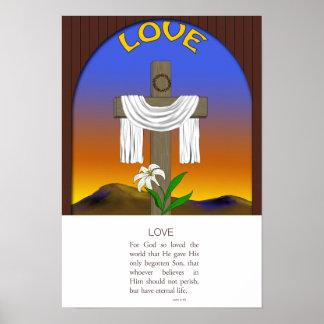 Love, John 3:16 Poster