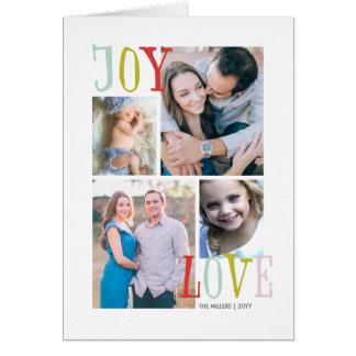 Love & Joy 4 Photo Holiday Card
