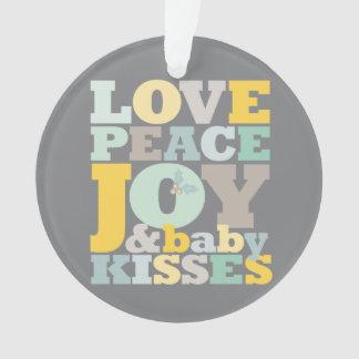 Love Joy Baby Kisses 1st Christmas Photo Ornament
