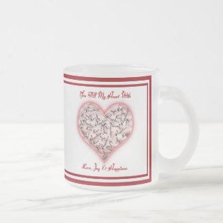 Love, Joy & Happiness Frosted Glass Coffee Mug