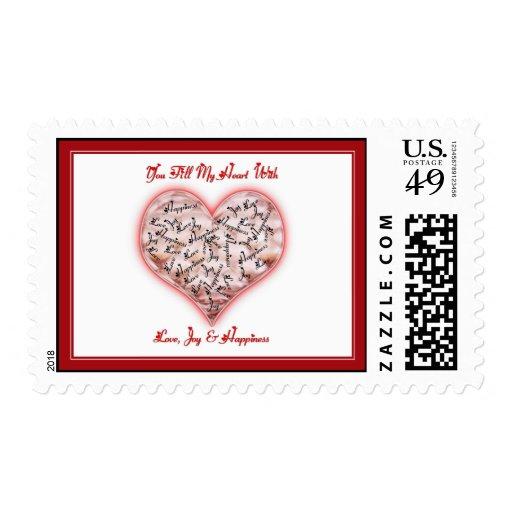 Love, Joy & Happiness Postage Stamps