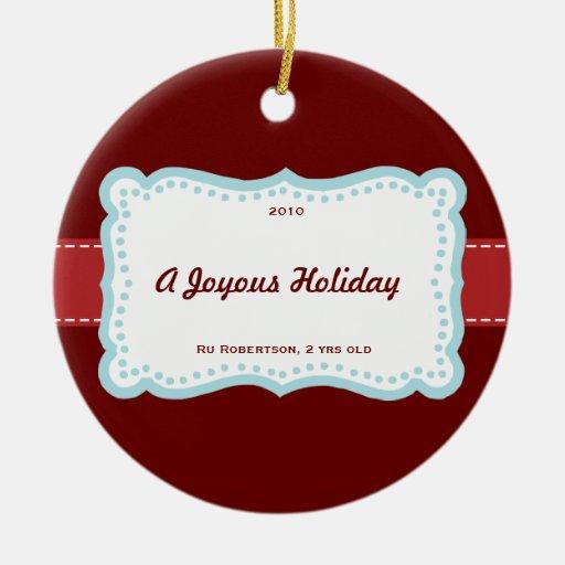 Love & Joy Holiday Ornament