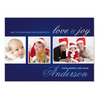 Love & Joy Holiday Photo Collage Card