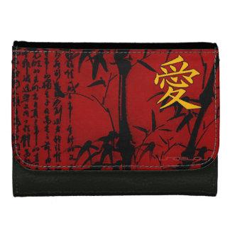 Love Joy Kanji Red Wallets For Women