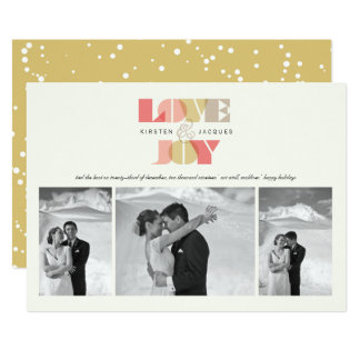 Love & Joy Our First Christmas Holiday Photo Card