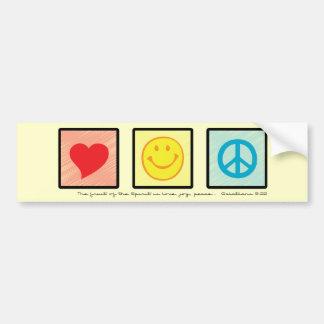 Love Joy Peace Christian bumper sticker
