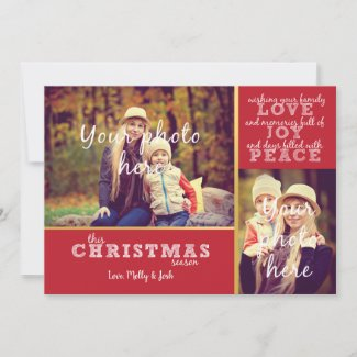 Love, Joy & Peace Flat Card Christmas Card