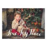 Love Joy Peace Holiday Photo Card