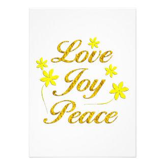 Love Joy Peace Custom Invite