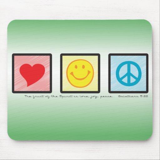Love Joy Peace Mousemat Mouse Pad