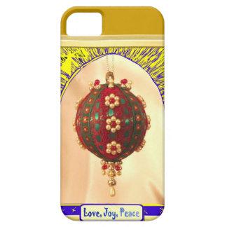 Love, Joy, peace red bauble iPhone SE/5/5s Case