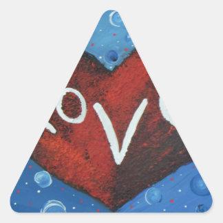 Love.JPG eterno Pegatina Triangular