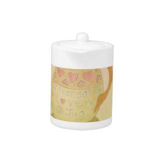 Love Jug Fun Design Teapot Hearts