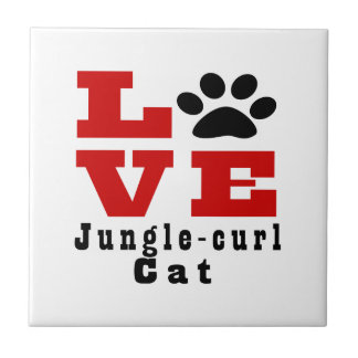 Love Jungle-curl Cat Designes Tile