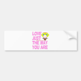 Love Just The Way You Are-Cute Monkey-Morocko Bumper Sticker
