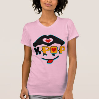 ♪♥Love K-Pop Ladies Twofer Sheer Fitted T-Shirt♥♫ T-shirts