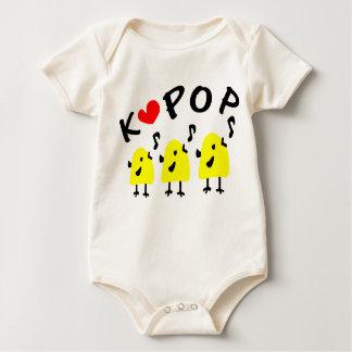 LOVE K POP LITTLE BIRDS SING Infant Organic Creepe Rompers