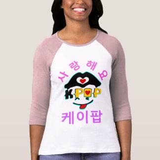 ♪♥Love K-Pop Stylish Raglan Baseball T-Shirt♥♫ Shirt
