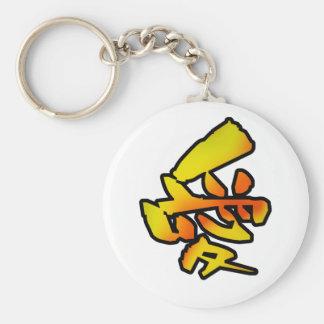 love kanji basic round button keychain