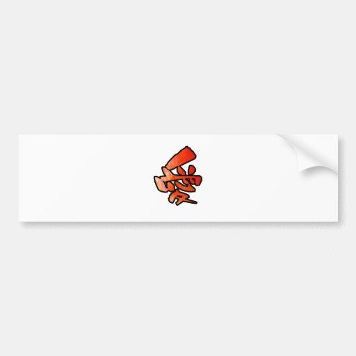 love kanji bumper sticker