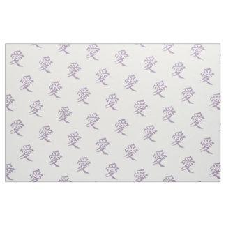 Love Kanji in Violet Fabric