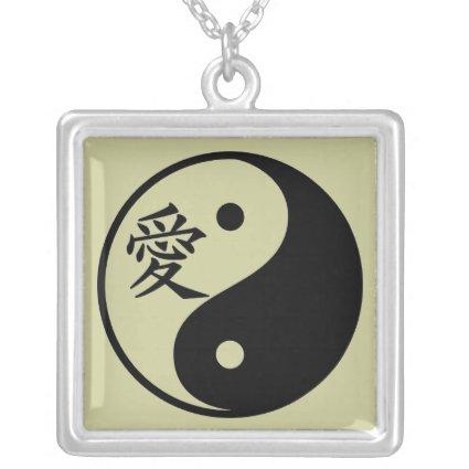 Love Kanji Yin Yang Necklace