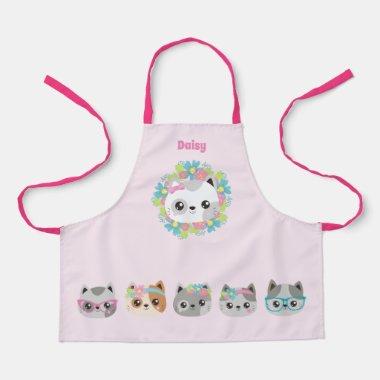 Love Kawaii Cats and Kittens -Cute Baker Cakemaker Apron