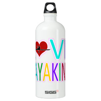 Love Kayaking Aluminum Water Bottle