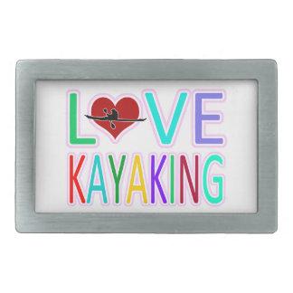 Love Kayaking Rectangular Belt Buckle