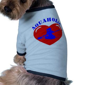 Love Kayaking Girl Doggie Tee Shirt