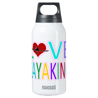 Love Kayaking Insulated Water Bottle
