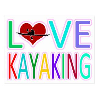 Love Kayaking Postcard