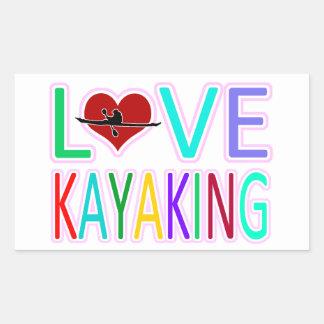 Love Kayaking Rectangular Sticker