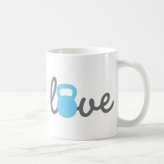 Love Kettlebell Blue Coffee Mug
