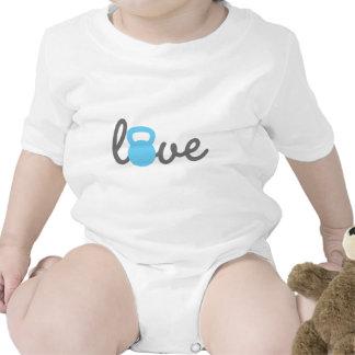 Love Kettlebell Blue Rompers