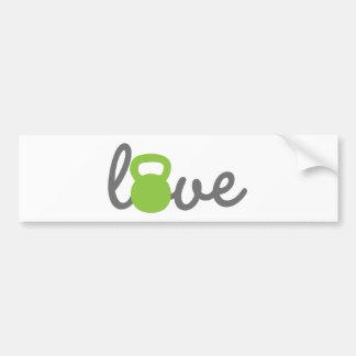 Love Kettlebell Green Bumper Sticker