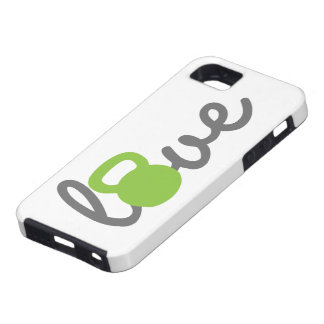 Love Kettlebell Green iPhone 5 Cases