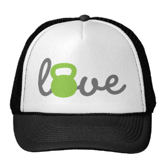Love Kettlebell Green Hat