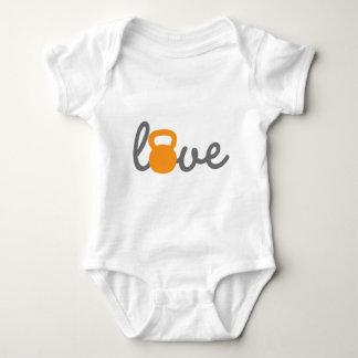 Love Kettlebell Orange Tee Shirt